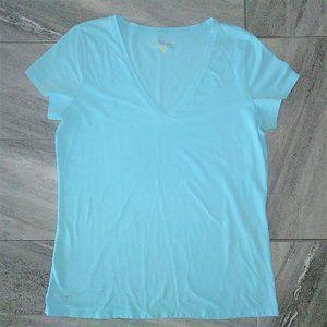 Lilly Pulitzer V-Neck T-shirt Size Large